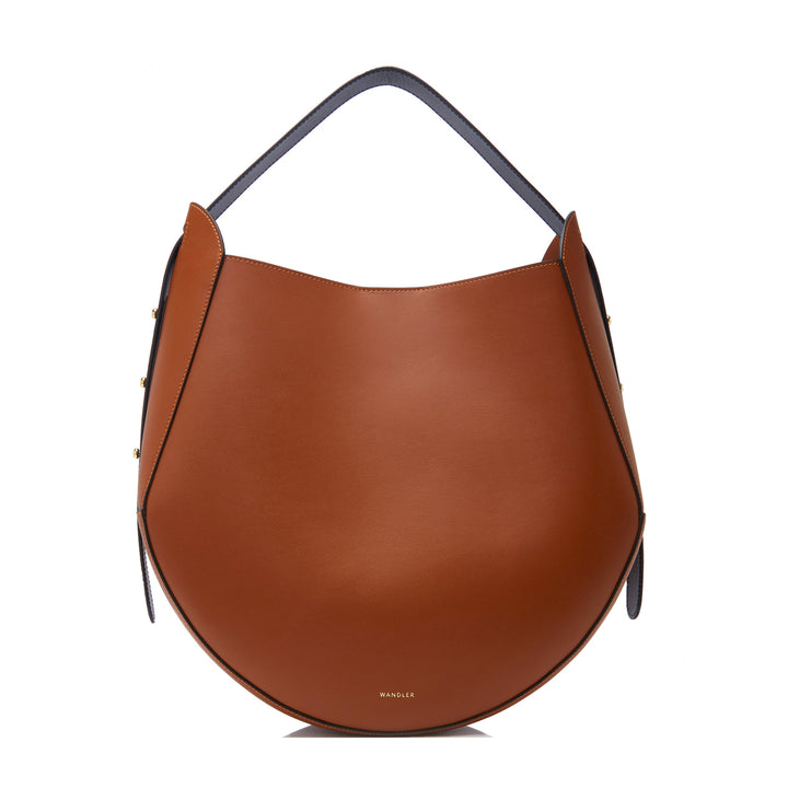 Corsa Contrast Handle Leather Tote Bag