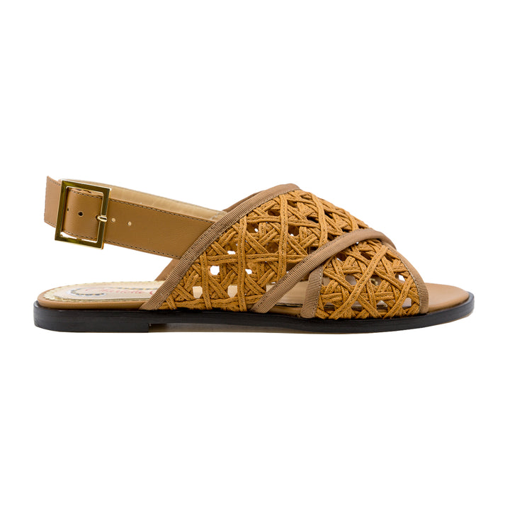 Woven Crossover Flat Sandals
