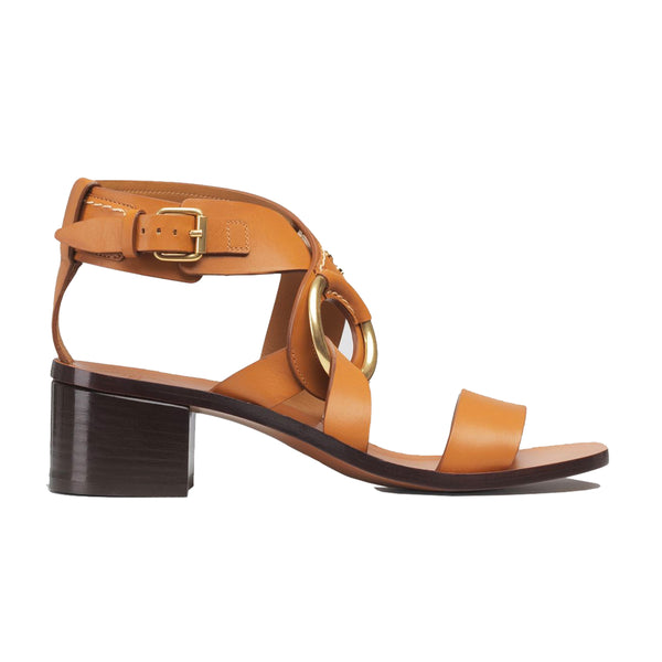 Demi Mid Heel Leather Sandals