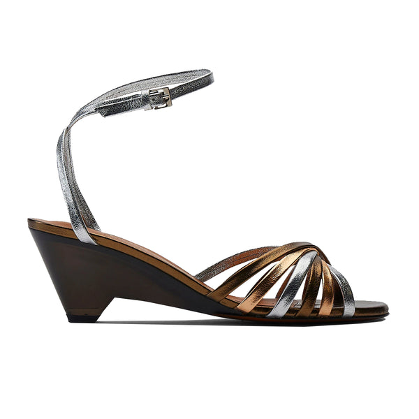 Dita Multistrap Plexi Wedge Sandals