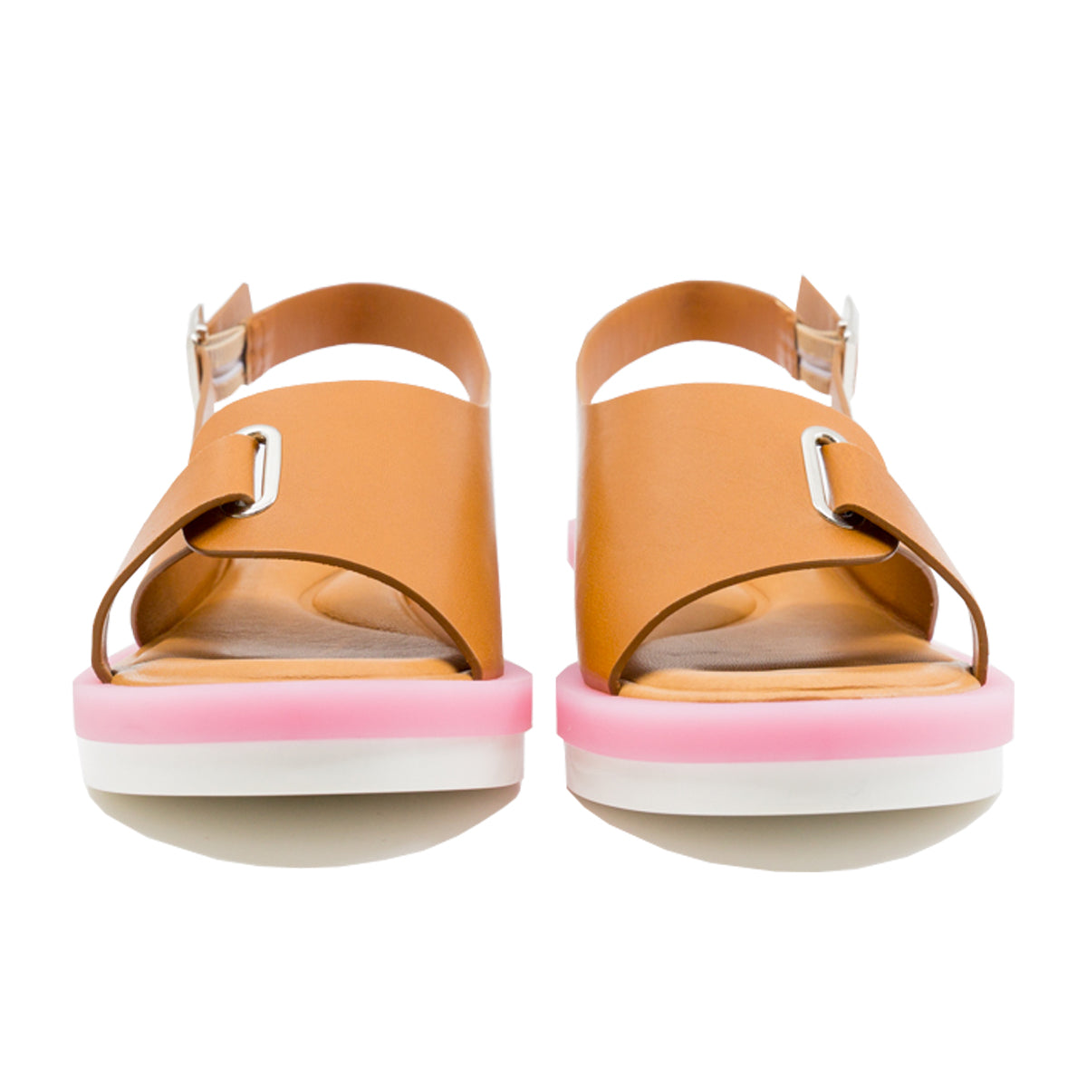 Fantine Two-Tone Gel Sole Sandals