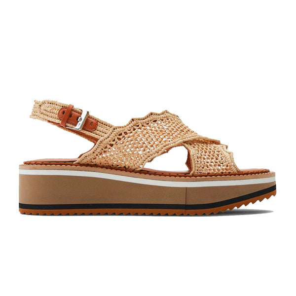 Feel Microblock Raffia Flatforms