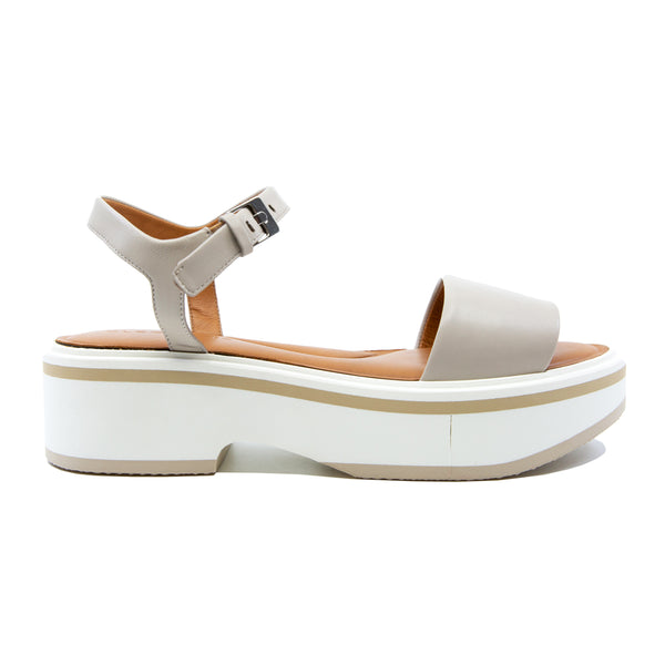 Fiona Leather Flatform Sandals