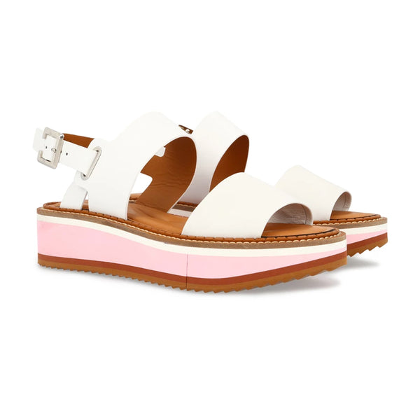 Fleur Two-Tone Buckle Flatforms