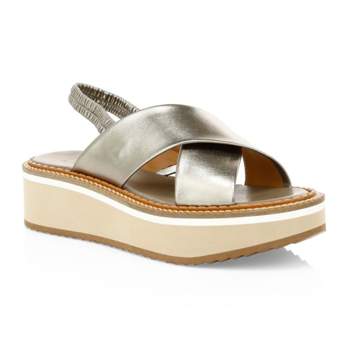 Freedom Microblock Metallic Flatform Sandals