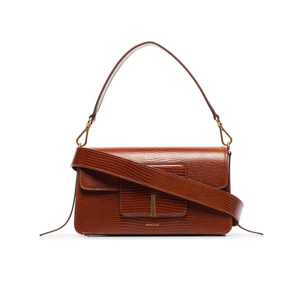 Georgia Leather Lizard Effect Shoulder Bag
