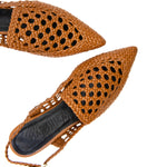 Gloria 30mm Woven Geometric Pointed Flats