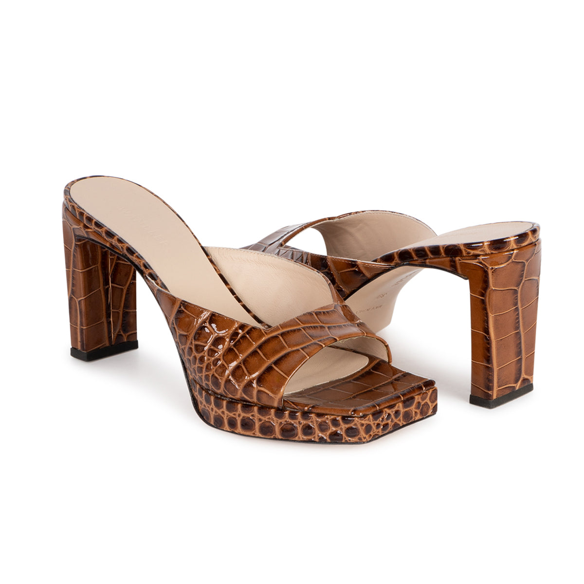 Isa Plateau Croco Sandals