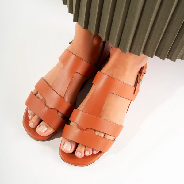 Ivy Leather Flat Sandals