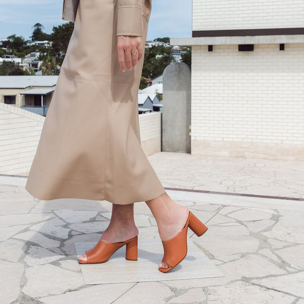 Jodie Square Open Toe Mules