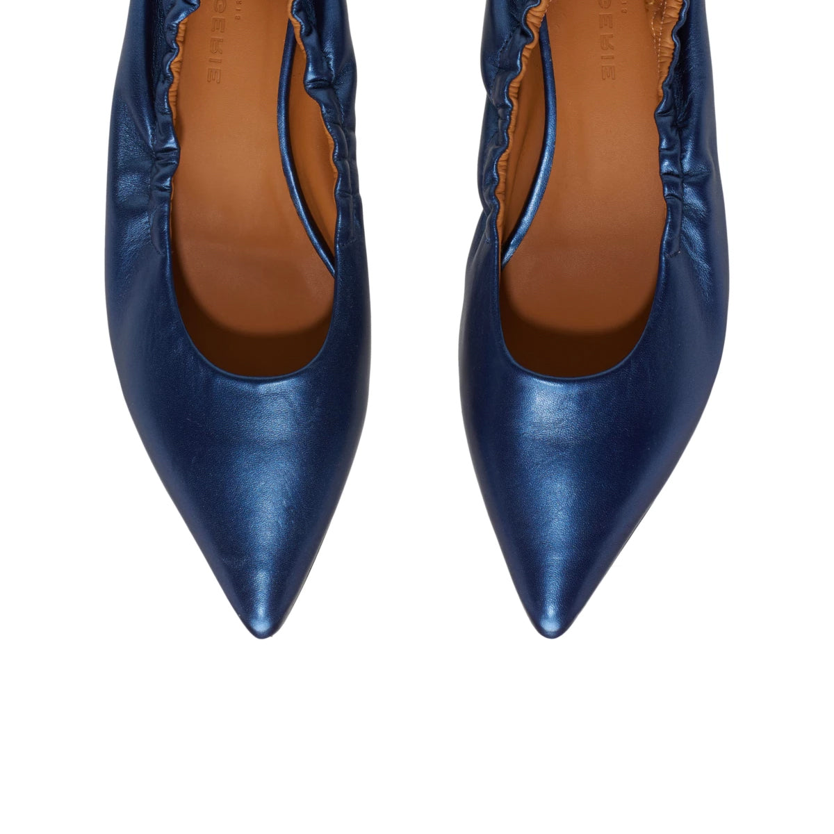 Kami Metallic Leather Flat Pumps
