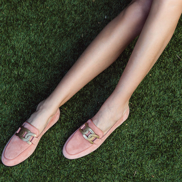 Kate Chain Link Suede Loafers