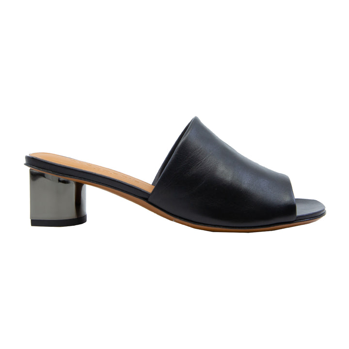 Lea Leather Mid Heel Slides