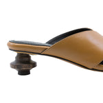Levante Leather Slide with 40mm Wood Heel