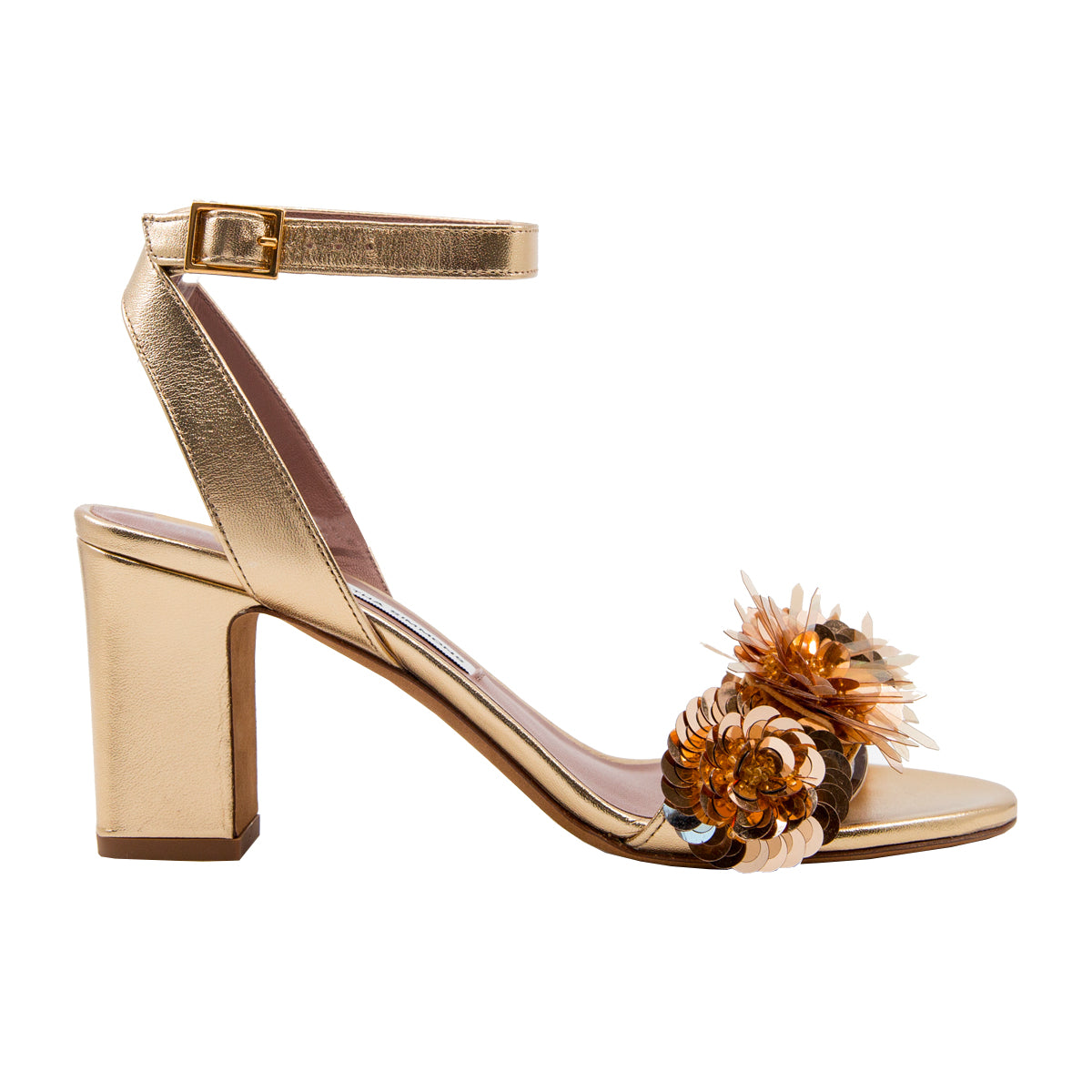 Lilian embellished metallic sandals