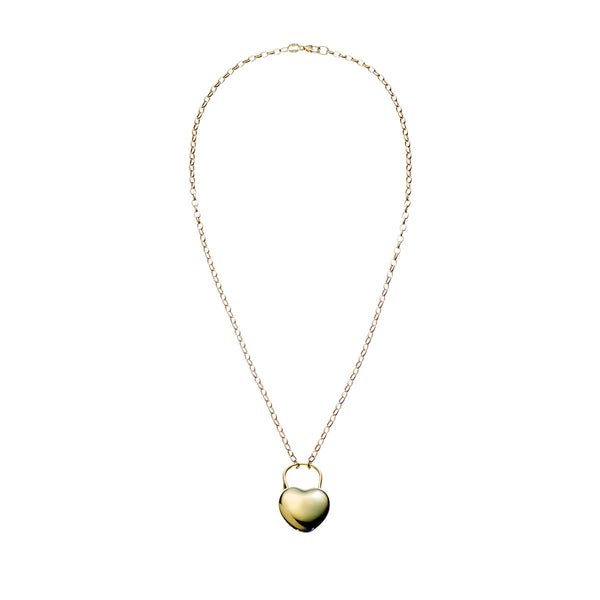 Love Lock Gold Plated Sterling Silver Necklace