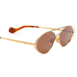 Metal Frame Oval Sunglasses
