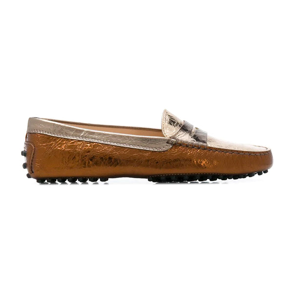 Metallic Mix Gommini Loafers
