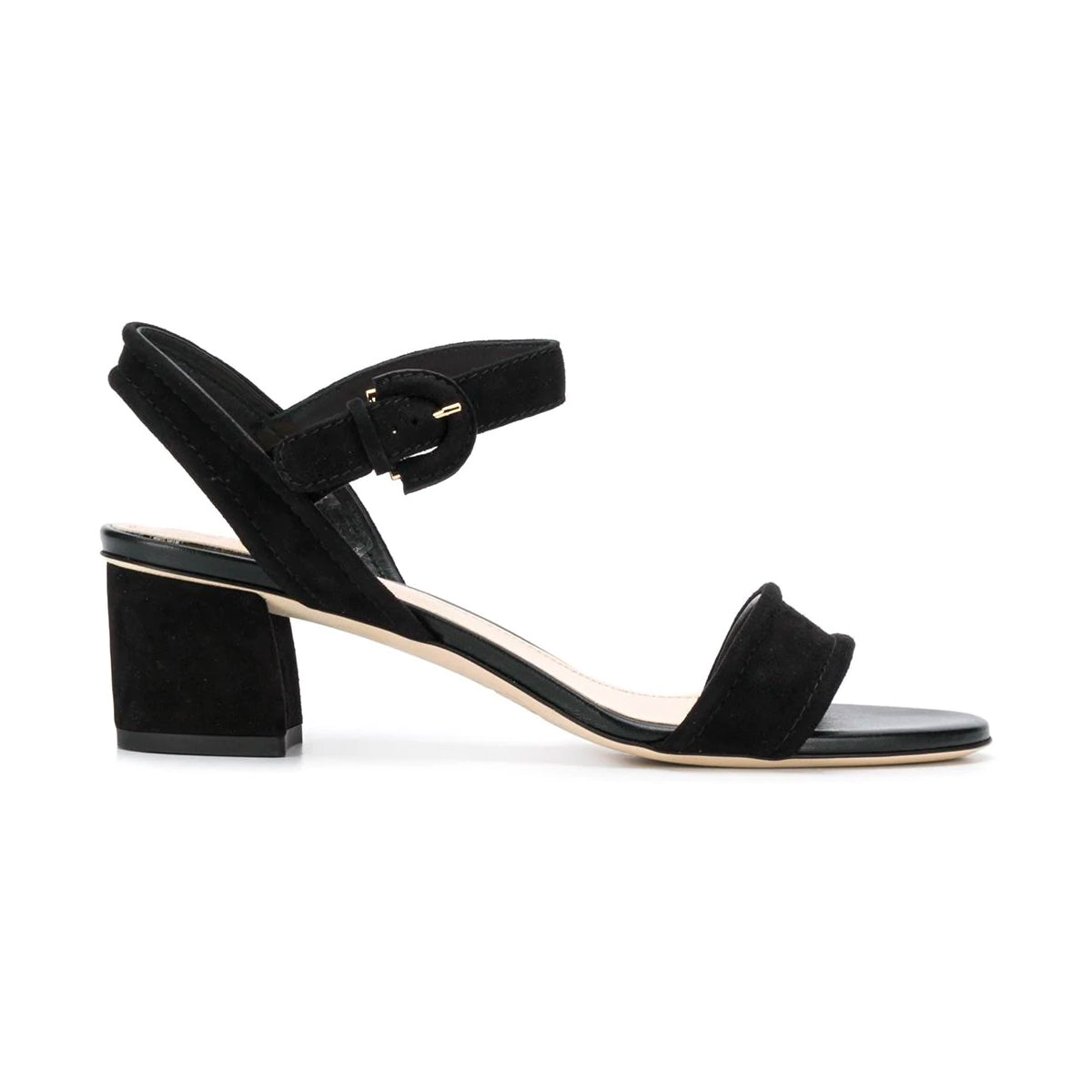 Suede Mid Heel Simple Block Heel Sandals