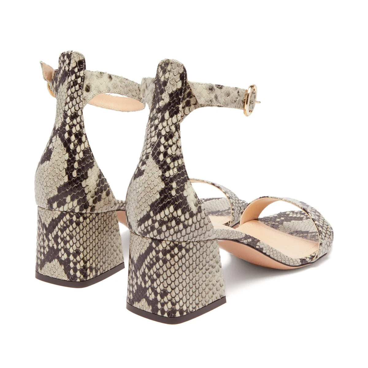 55mm Miri Snake Block Heel Sandals