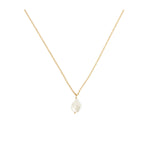 Misshapen Beauty Pearl on Gold Plated Chain Necklace