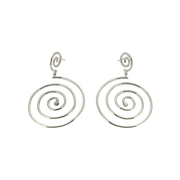 Muriel Double Spiral Sterling Silver Earrings