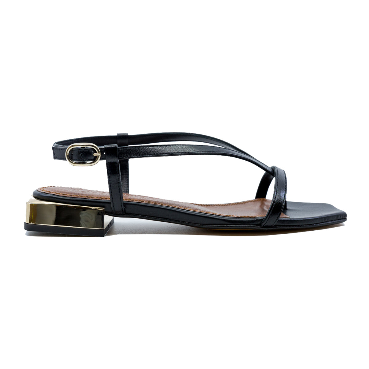 Paulina Fine Sandal with 25mm Gold Heel