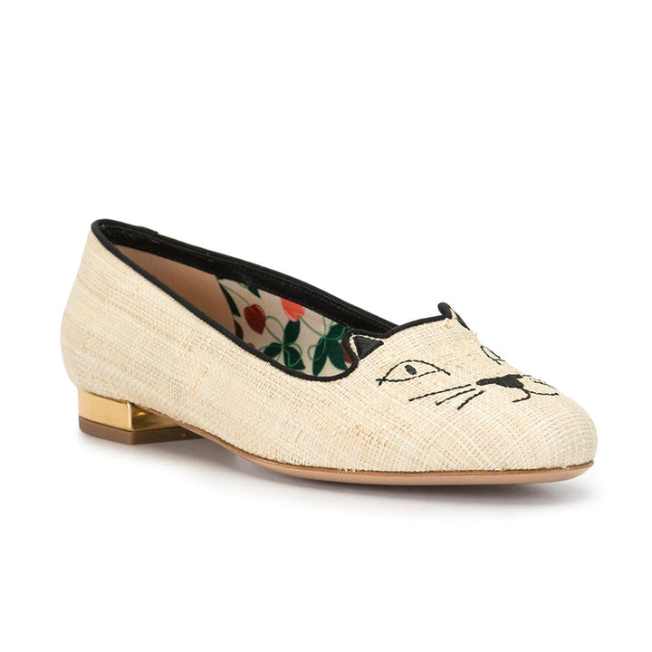 Kitty Raffia Loafers