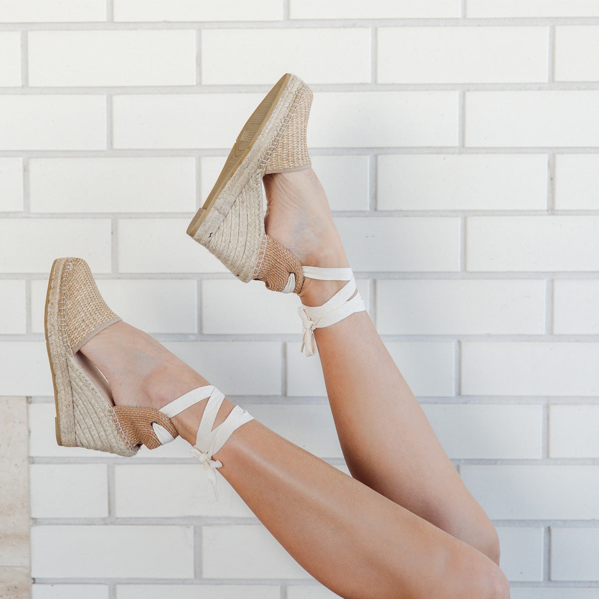 Rattan Closed-Toe Espadrille Wedges