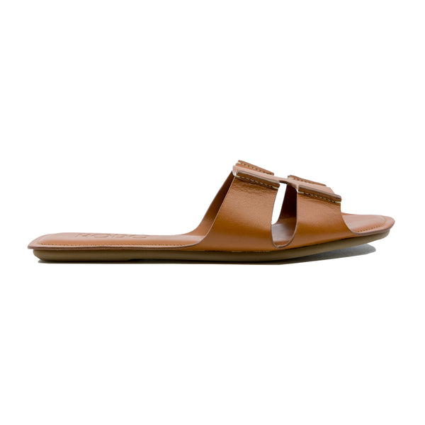 Natural Calf Leather Slides