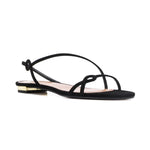 Serpentine Flat Suede Sandals