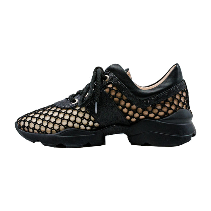 Honeycomb Laceup Sneakers