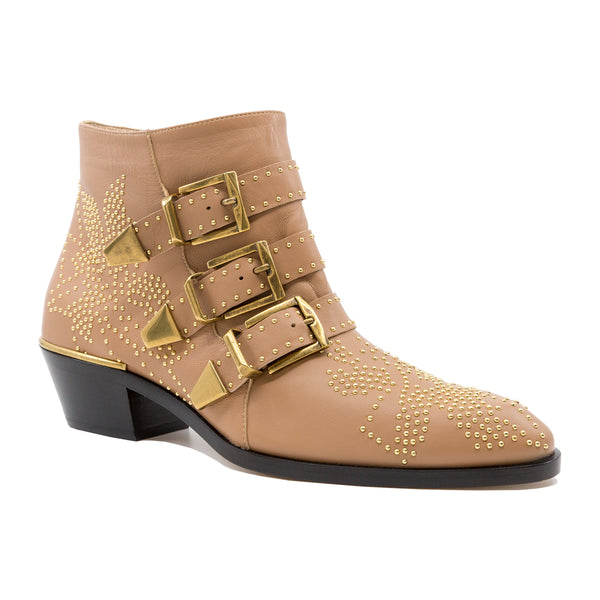 Susanna Leather Studded Ankle Boots