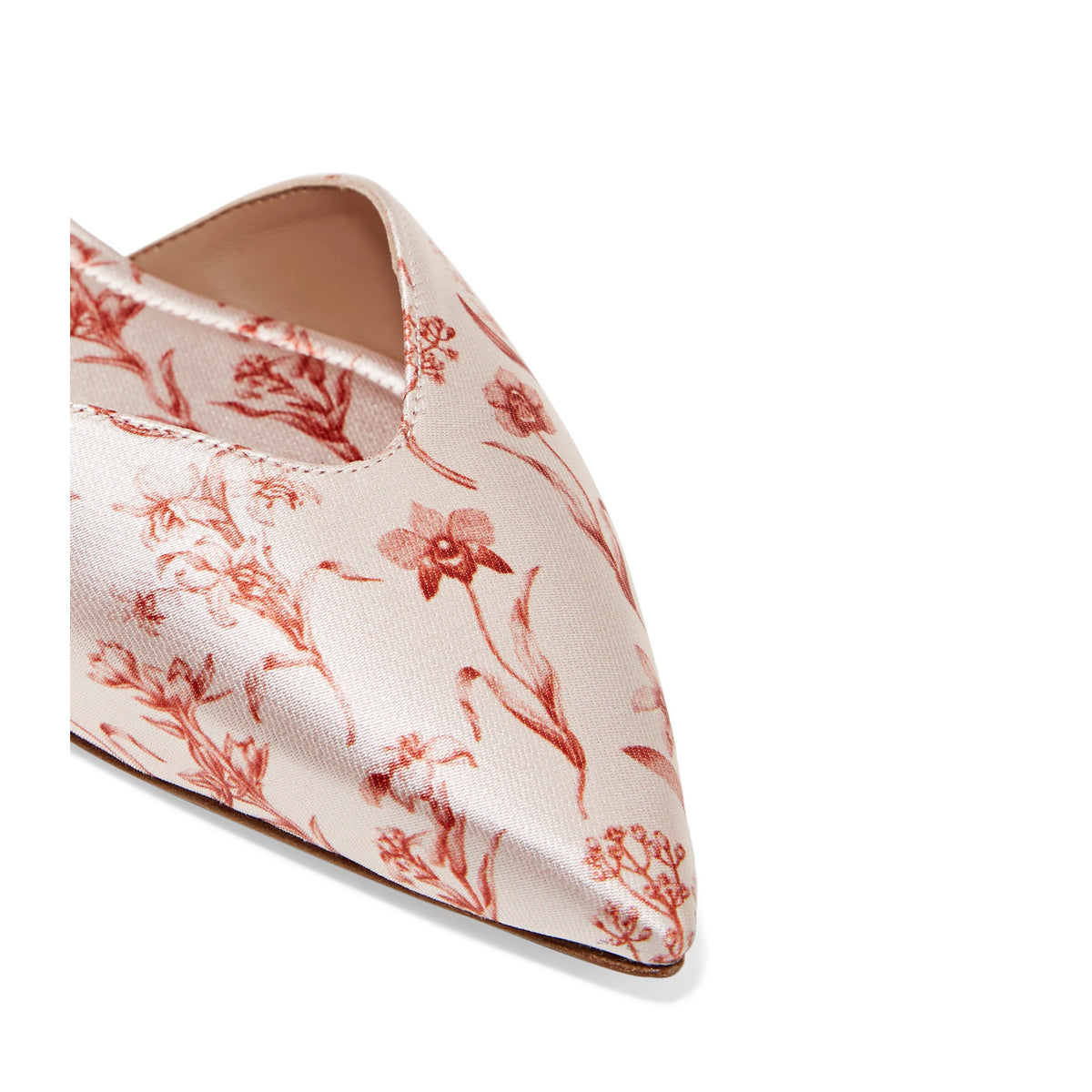 Vera Wrap Ecru Satin Point Toe Flats
