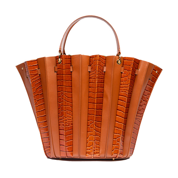 Teodora Plisse Shopper Bag