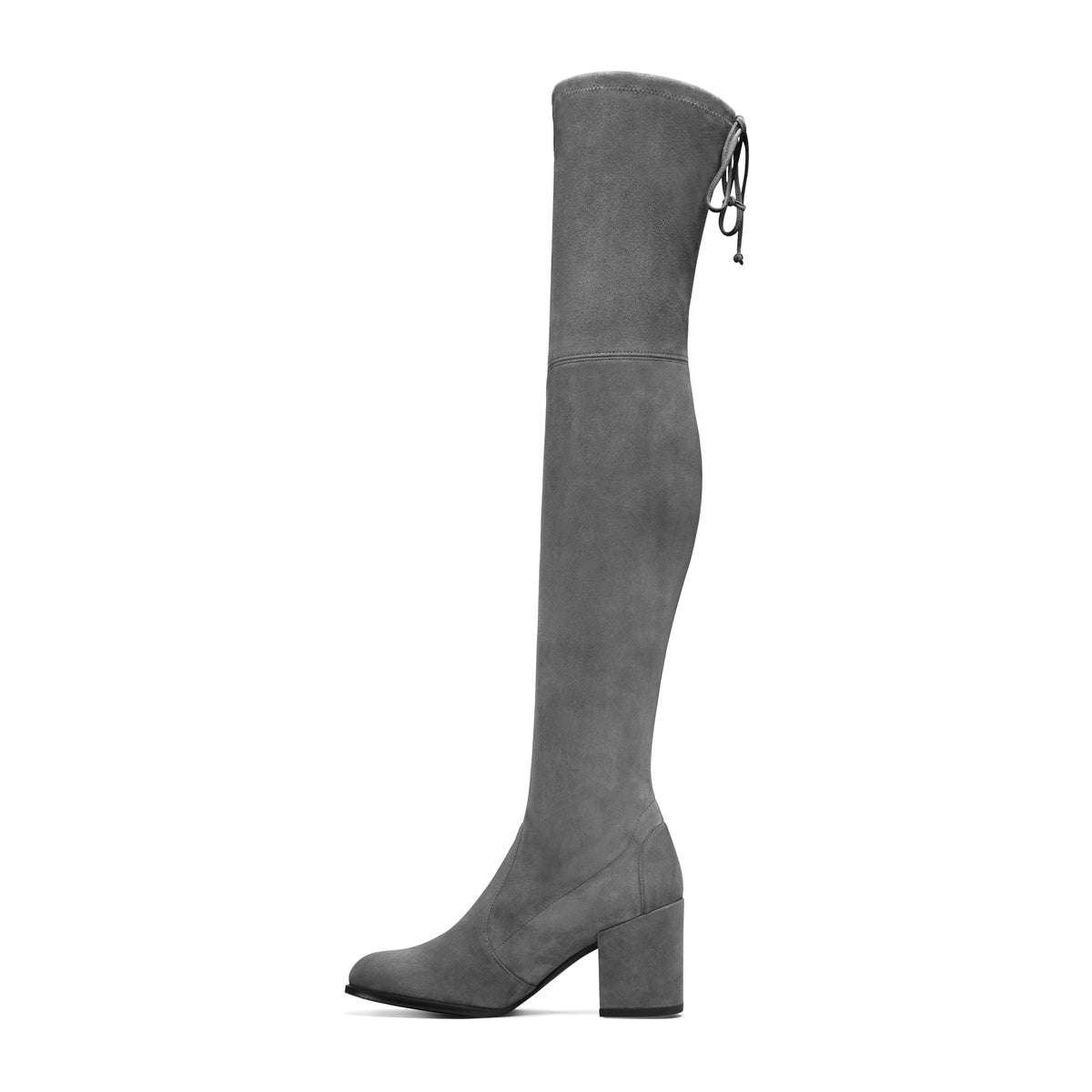 Tieland Block Heel Thigh High Suede Boots