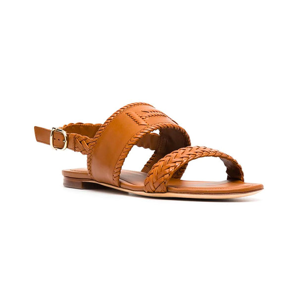 Double T Two Strap Flat Sandals