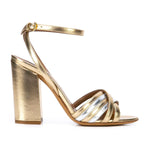 Toni two-tone metallic strappy sandals