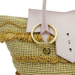 Toujours Raffia and Leather Tote Bag