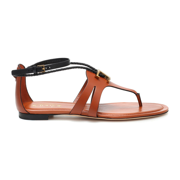 Logo Plaque Thong Sandals