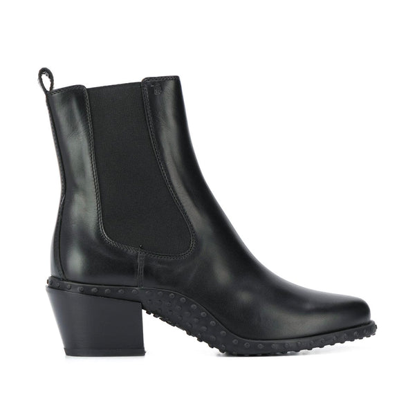 Gommini Wave Sole Block Heel Boots