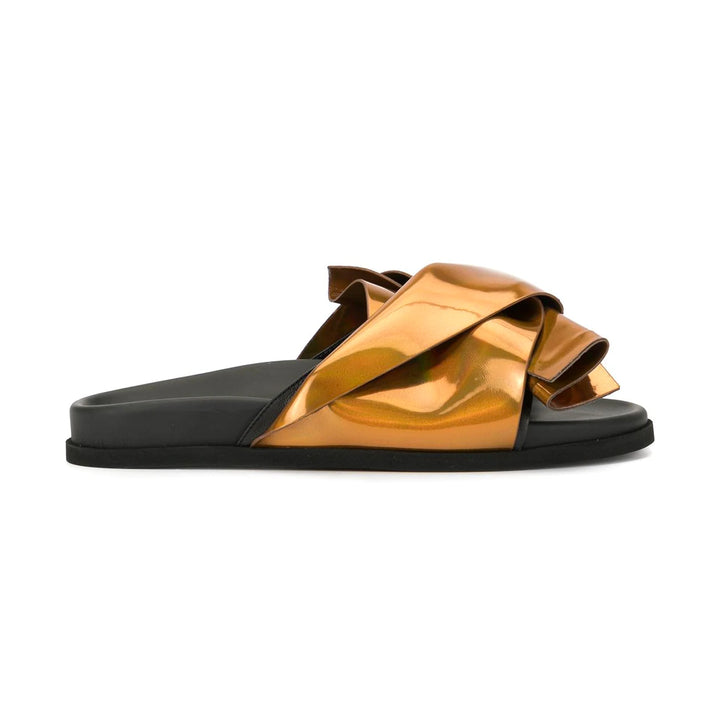 Knotted Flat Bow Metallic Slides