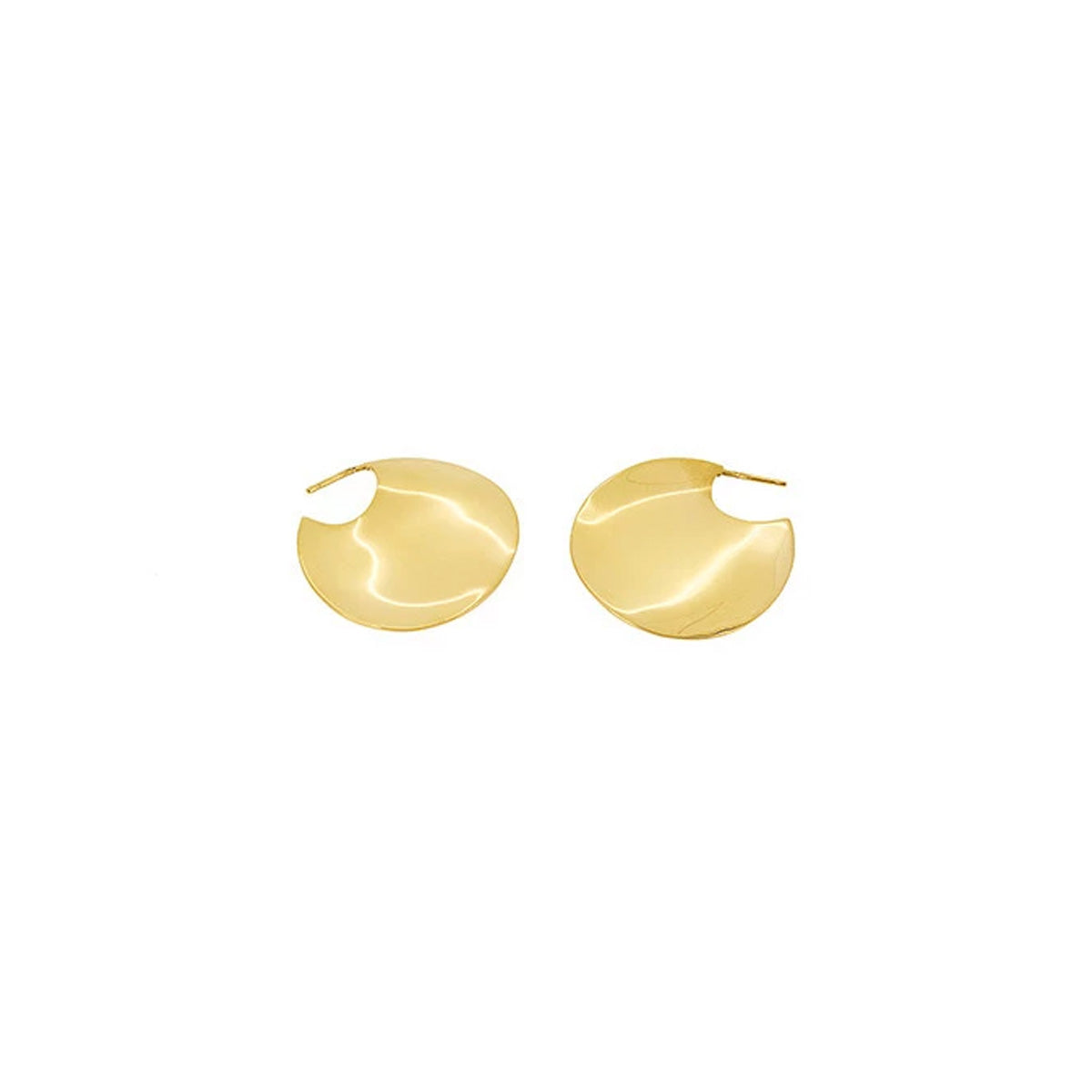 Wavee Small Gold Plated Earrings