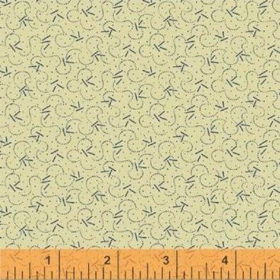windham gatherings civil war cream with blue print cotton quilt fabric