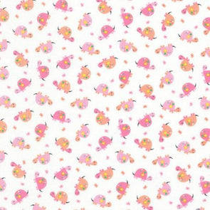 Timeless Treasure Mini pink Turtles cotton quilt fabric