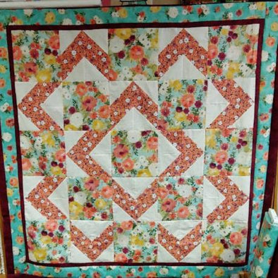 Walk About Quilt Kit qt Lilian Cotton quilt Fabric