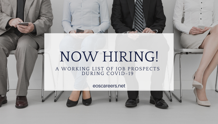 Covid-19 Pandemic News- Companies Hiring Right Now!