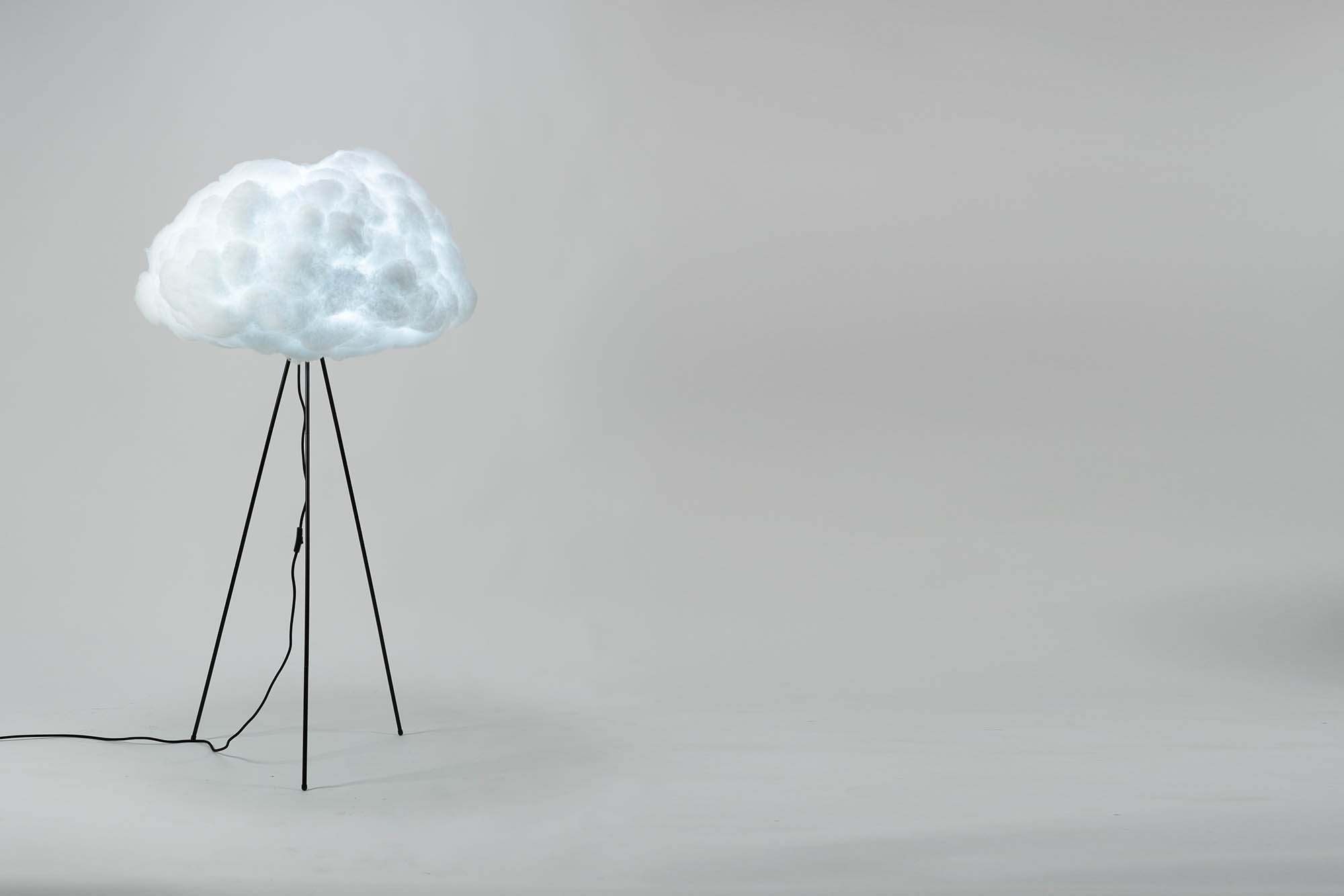 richard clarkson Lampshade Cloud - Floor Standing Large Black