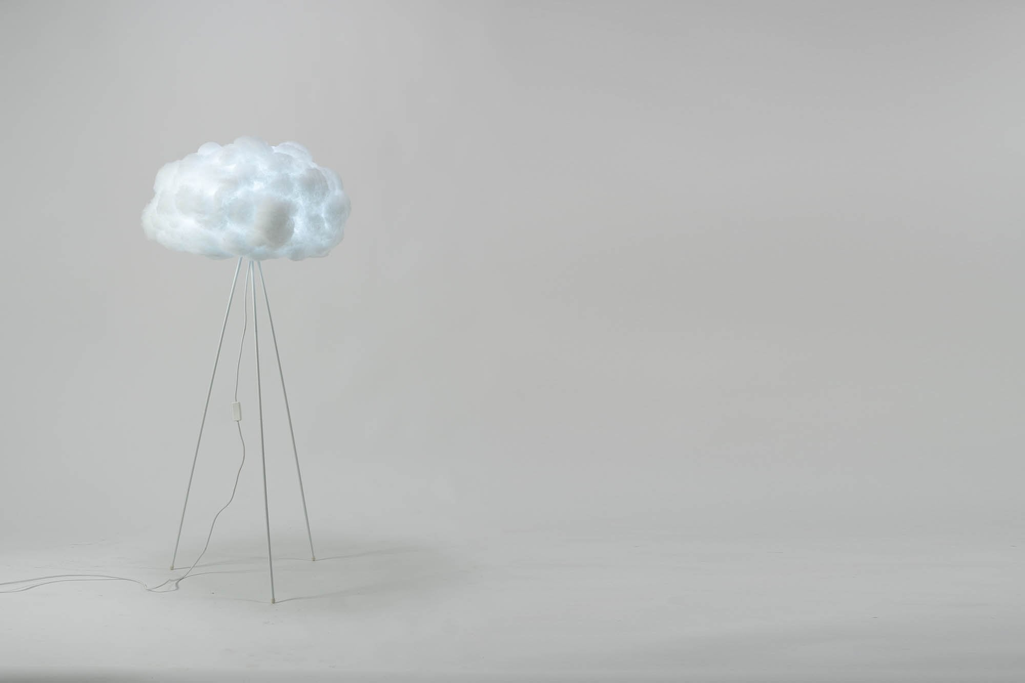 richard clarkson Lampshade Cloud - Floor Standing Medium White
