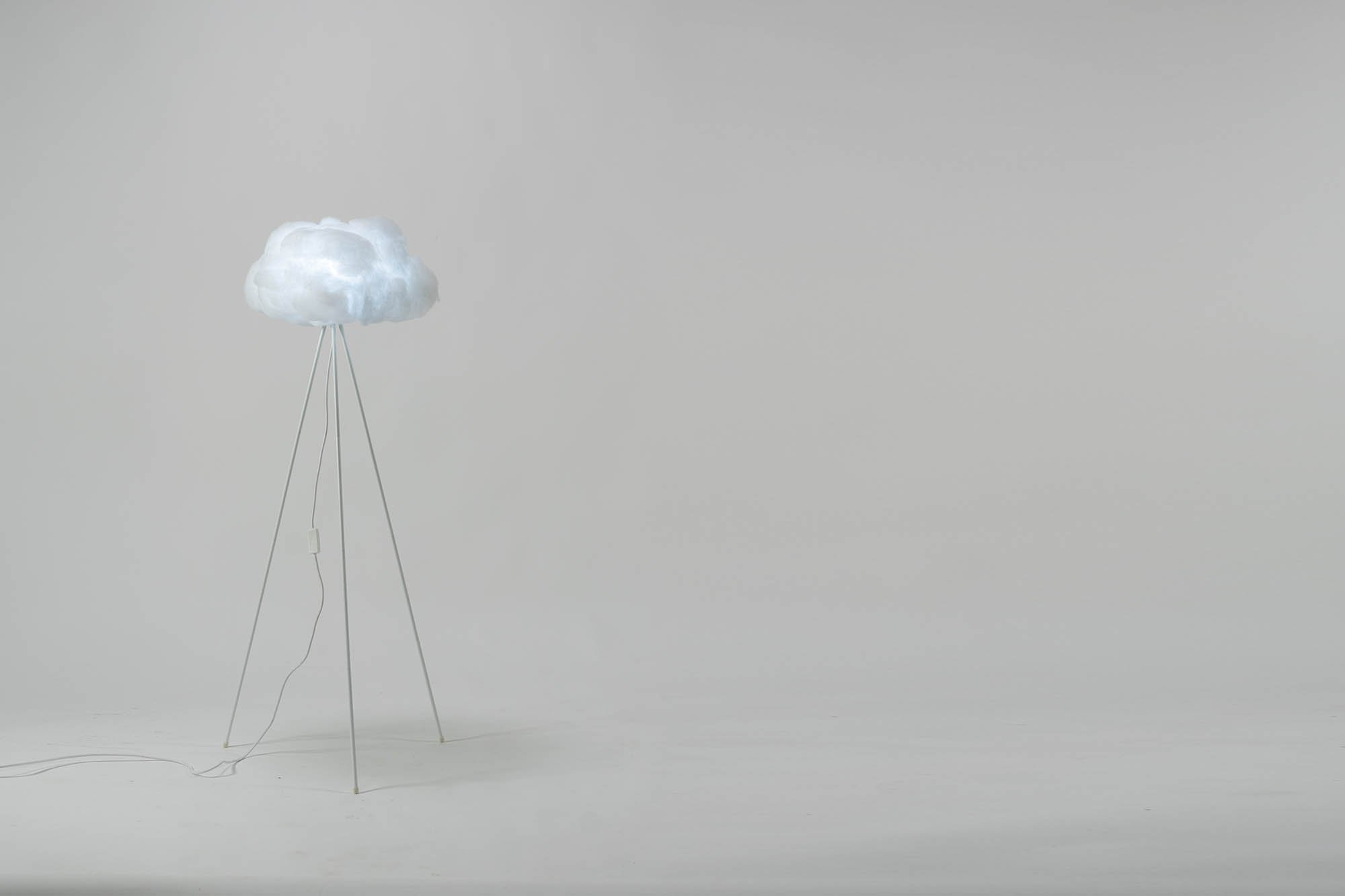 richard clarkson Lampshade Cloud - Floor Standing Small White